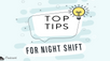 Episode 16 (Lost Episode): Tips for Night Shifts --previously recorded in 2018