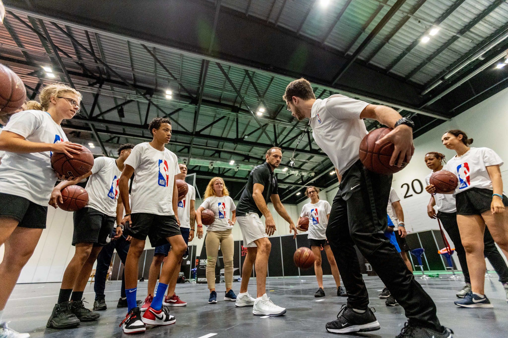YMCA175 NBA skills clinic