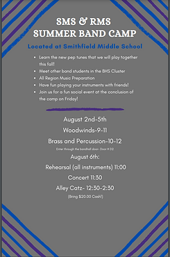 RMS and SMS Band Camp Flyer