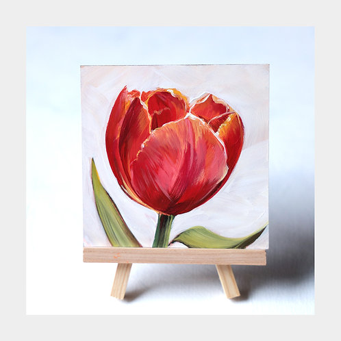 """Radiantly Red, 4"""" x 4"""""""