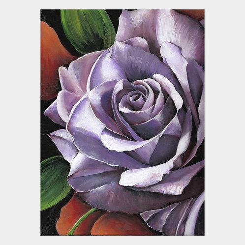 """Purple Rose, 9"""" x 12"""""""