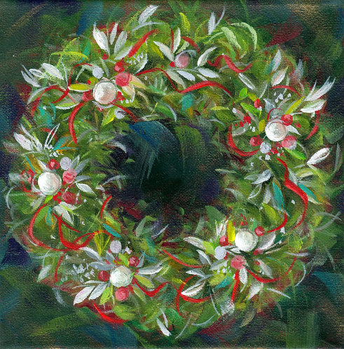 "8""x8"" Holiday Wreath No. 2"