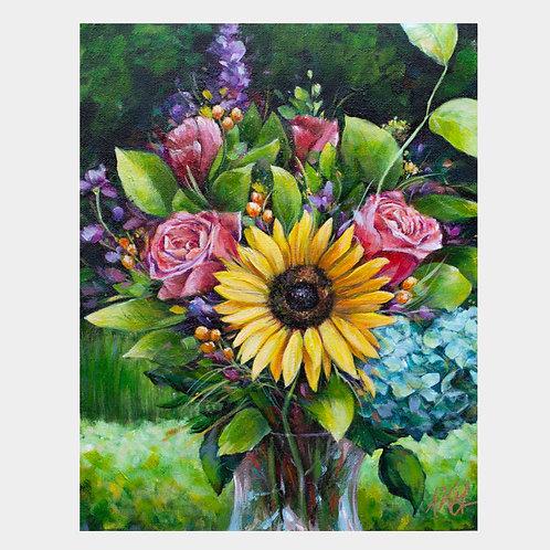 "Sunflower Love, 11"" x 14"""