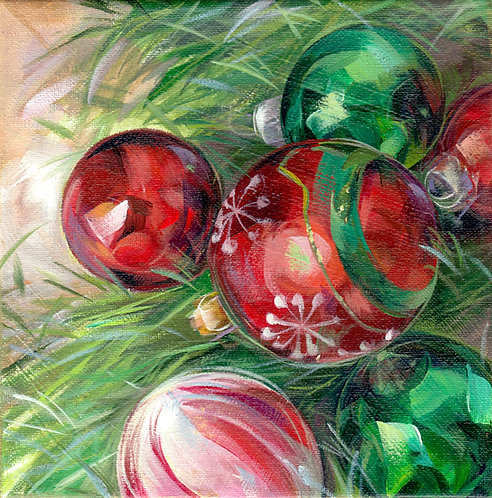"""8""""x8"""" Red & Green"""