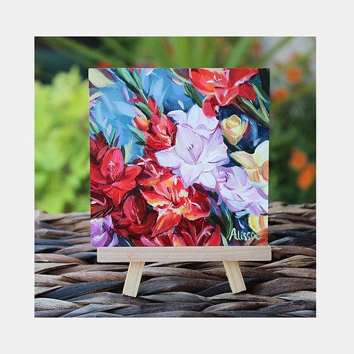 "Gladiolus Love Mini, 4"" x 4"""