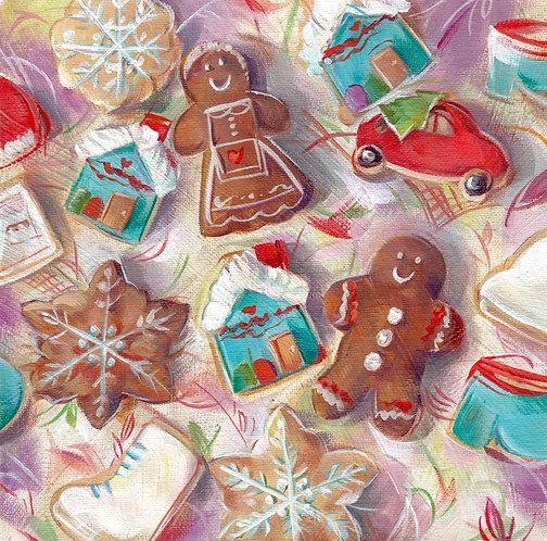 "8""x8""Gingerbread Cookies"