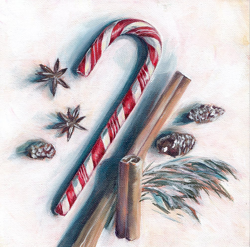 """8""""x8"""" Candy Cane"""