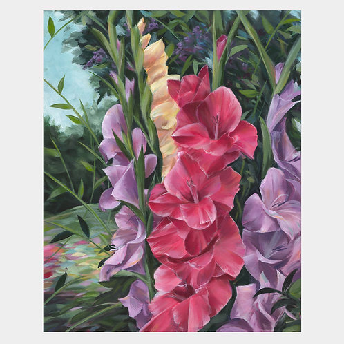 "Dancing Gladiolus, 16"" x 20"""