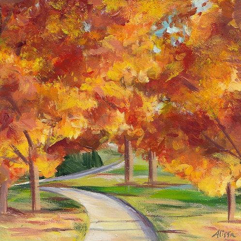 """4""""x4"""" Autumn Walk"""