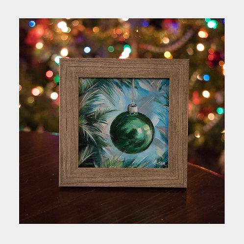"Green Ornament 5"" x 5"" (Framed)"