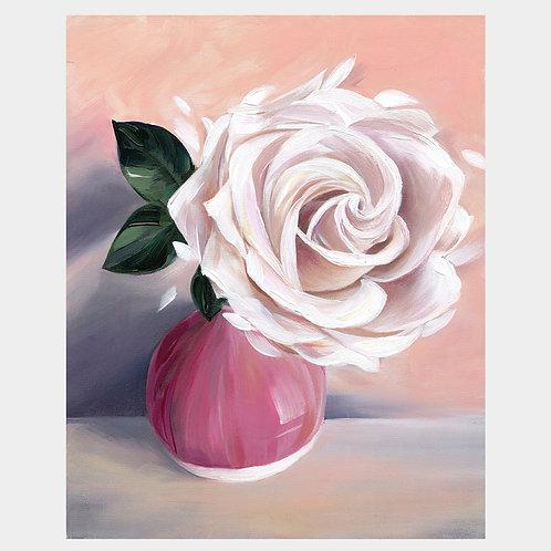 """White Rose, 8"""" x 10"""""""