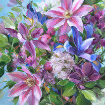 Clematis, Iris, Lilac