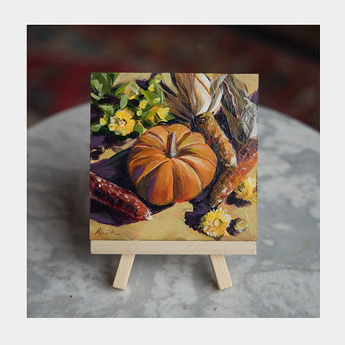 """First Day of Fall, 4"""" x 4"""""""