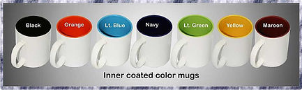 Inner coated color custom printed mugs