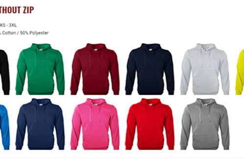 Hoodies With No Zip (Colours)