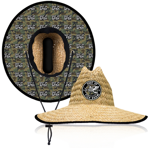 BONES FISHING STRAW HAT