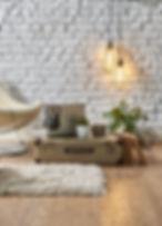 vintage winter with modern interior styl