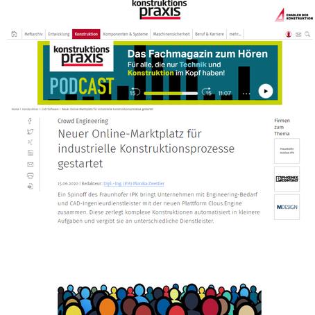 Neuer Online-Marktplatz für industrielle Konstruktionsprozesse gestartet