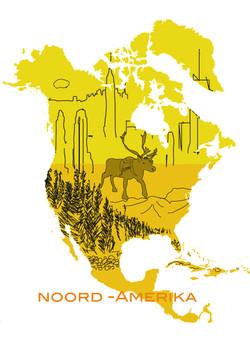 affiche Noord-Amerika