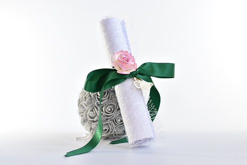 Green & Pink Bridesmaid Proposal Scroll | Maid of Honour | Flower Girl
