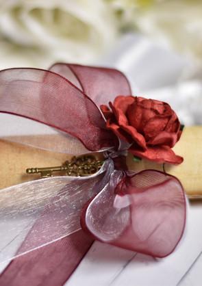 Vintage Marriage Proposal Scroll
