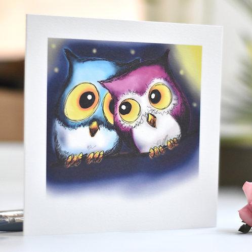 """Love Owls"" Greeting Card"