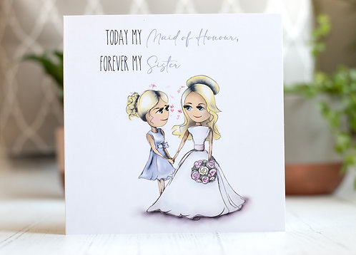 Maid of Honour Thank You Card | Forever my Sister