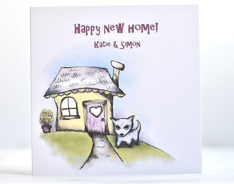 Happy New Home | First Home Together | Personalised Greeting Card