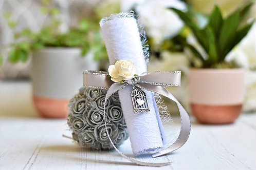 Bridesmaid Proposal Scroll | Silver & Grey