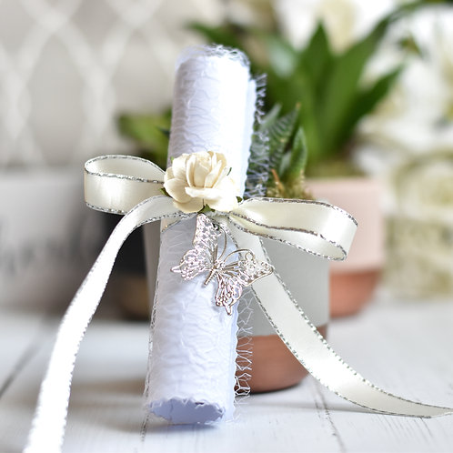 Bridesmaid Proposal Scroll | Ivory & Silver | Maid of Honour | Flower Girl