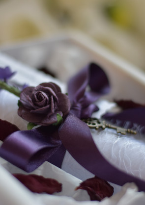 Purple Marriage Proposal Scroll