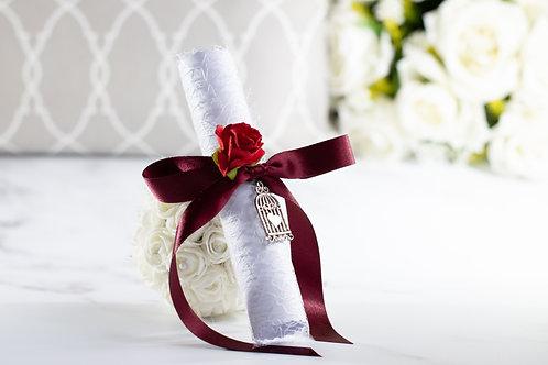Bridesmaid Proposal Scroll | Burgundy Red