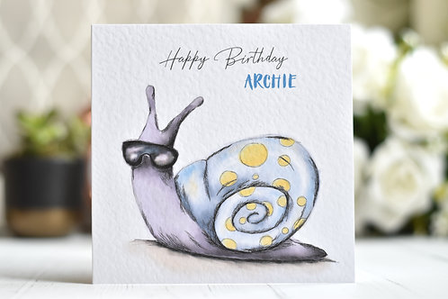 Happy Birthday Card | Cool Snail