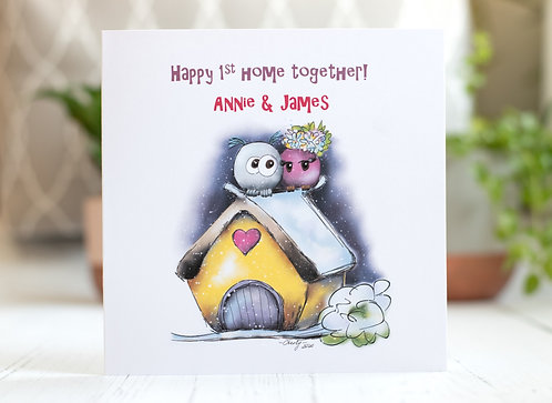 Happy 1st Home Together | New House Greeting Card