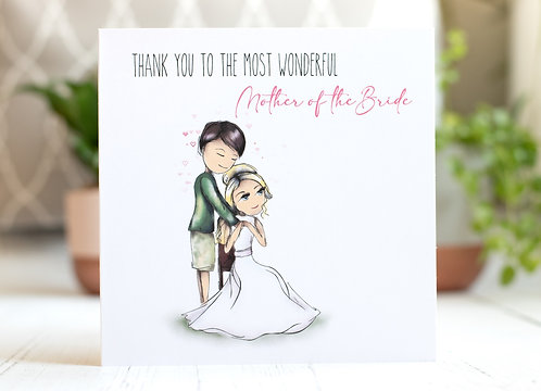 Mother of the Bride Groom Card | Wedding Morning Thank You
