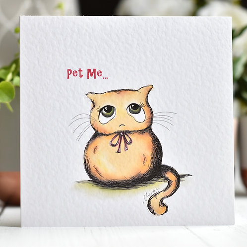 Ginger Cat Greeting Card | Happy Birthday