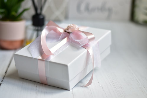 ADD ON: Gift Box for a Scroll | White