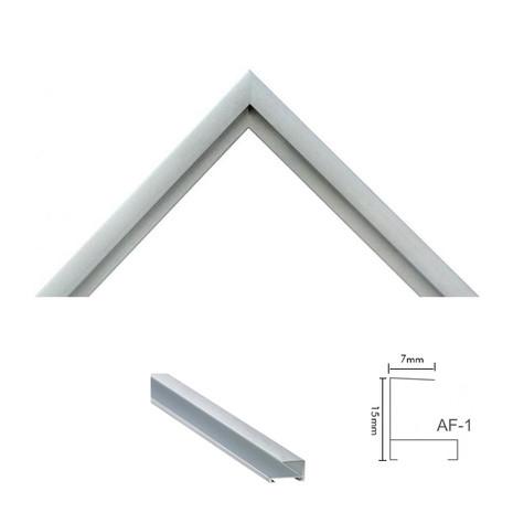 Moldura AF-1 Prata Fosca