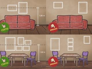 Como pendurar quadros corretamente