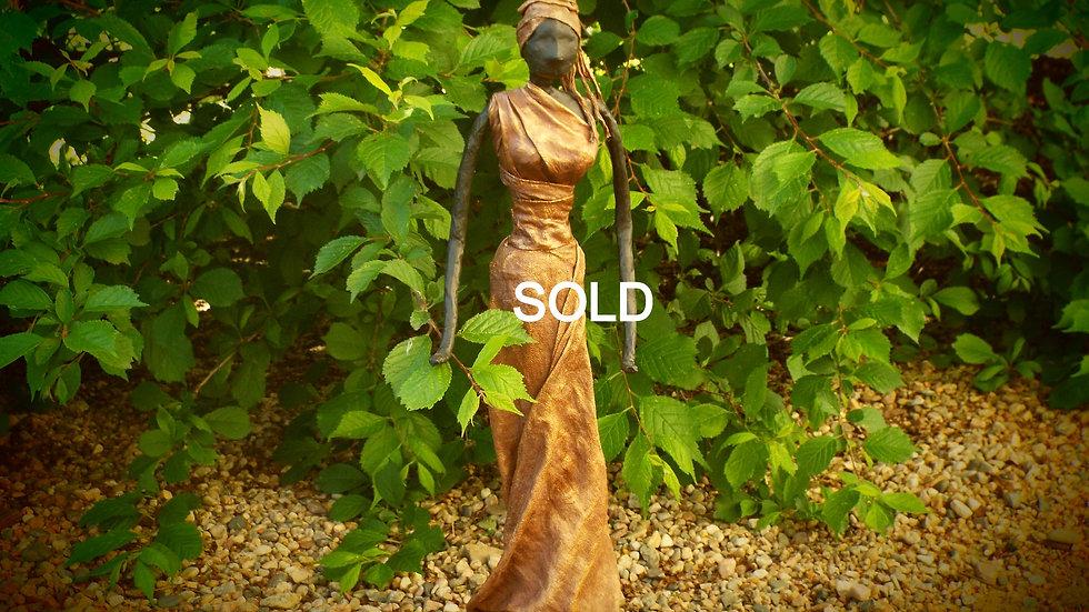 Bronze Lady with turban