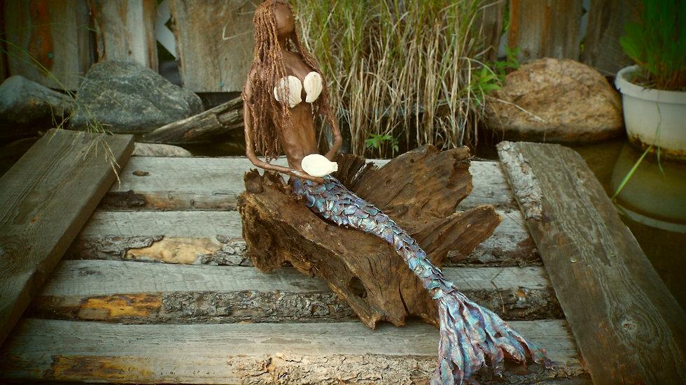 Mermaid on wood