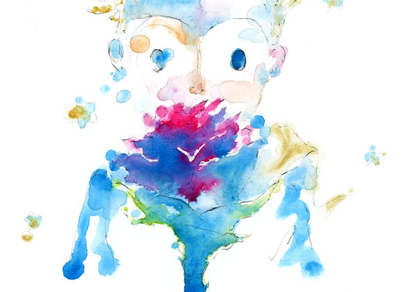 Art Print 小王子(The Little Prince) Blue
