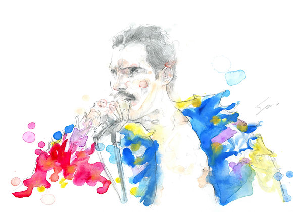 Art Print Freddie Mercury (Queen)