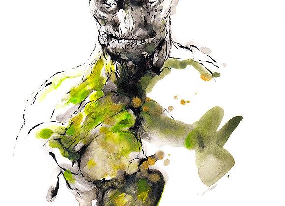 Art Print 銀河守護隊 (Guardians of the Galaxy) Groot