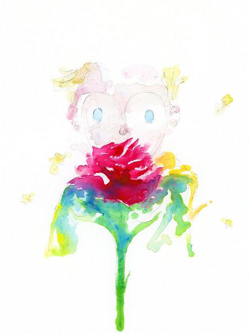 Art Print 小王子(The Little Prince) Yellow
