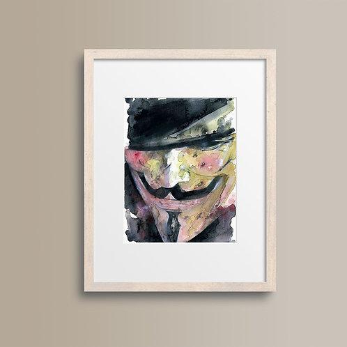 Art Print V煞 (V for Vendetta)