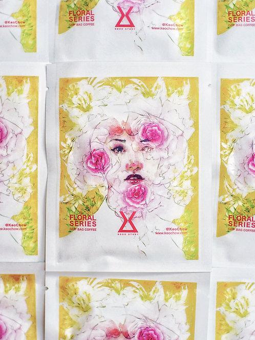 Floral Series Drip Bag Coffee & Coloring Card