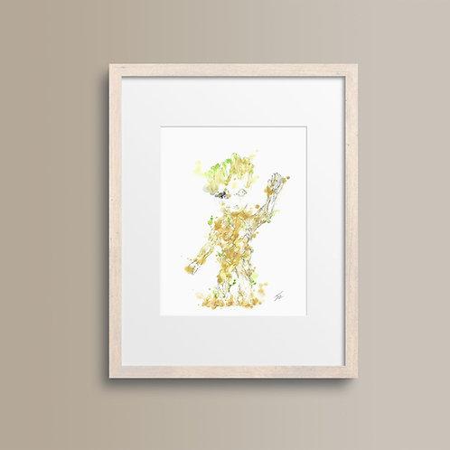 Art Print 銀河守護隊2 (Guardians of the Galaxy Vol. 2) Baby Groot