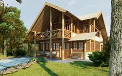 Casa de eucalipto tratado
