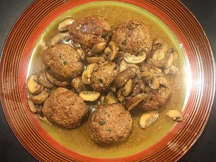 meatballs & mushrooms